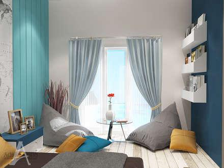 """""""BEACH"""" concept for kids bedroom:  Kamar Tidur by Adelia Irena"""