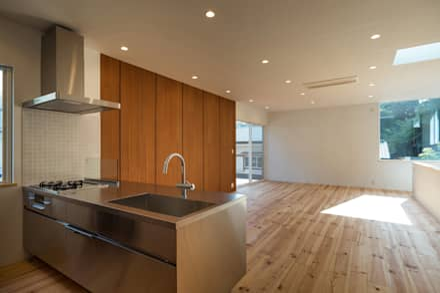 木と旅を愛する人の家: 東涌写真事務所が手掛けたキッチンです。