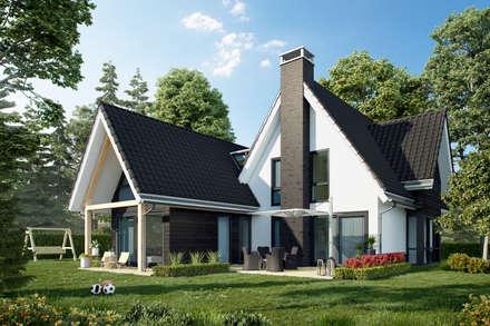 Nieuwbouw woning Boskoop: landelijke Huizen door Bongers Architecten