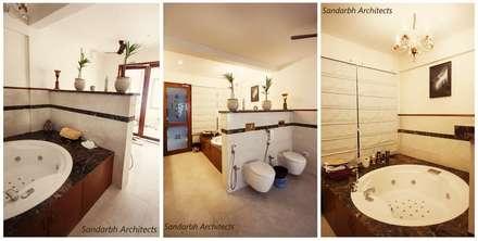 Rahaman's residence: eclectic Bathroom by Sandarbh Design Studio