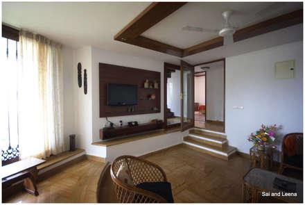 Kannan - Sonali and Gaurav's residence: eclectic Media room by Sandarbh Design Studio
