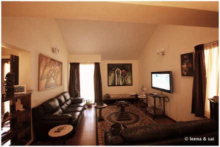 Captain Vijendra - Renovation: eclectic Media room by Sandarbh Design Studio
