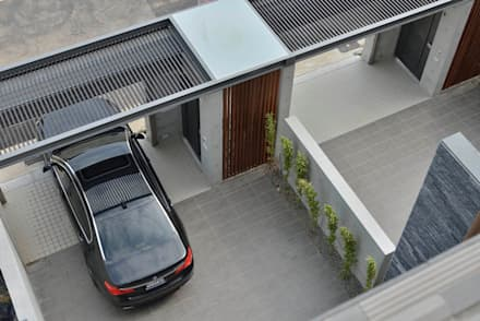 modern Garage/shed by EO design studio