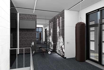 Дизайн-проект трехэтажной квартиры: Тренажерные комнаты в . Автор – Студия дизайна и декора Светланы Фрунзе