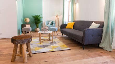 Salon: Salon de style de style Scandinave par Atelier MADI