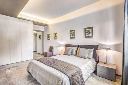 CASA CONTEMPORANEA (PALIANO - FR): Camera da letto in stile in stile Moderno di Studio Guerra Sas
