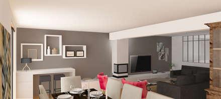 Aménagement maison (91): Salle à manger de style de style Moderne par Agence Delphine Coipel