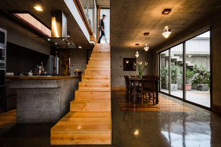 Casa Jardines del Sur : Pasillos, hall y escaleras de estilo  por Dx Arquitectos