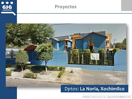 Nhà có sân thượng by GSG Arquitectura Sa de CV