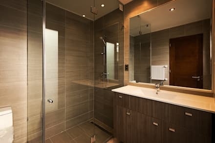 Casa Montemar 3: Baños de estilo moderno por Bauer Arquitectos
