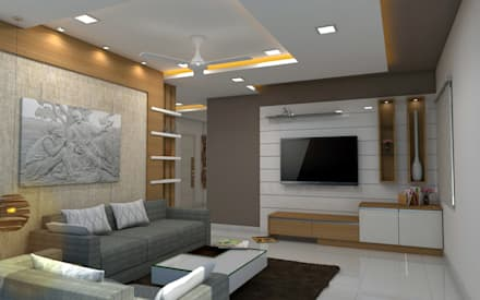 Sai Ram Projects, Kondapur: Asian Living Room By Shree Lalitha Consultants