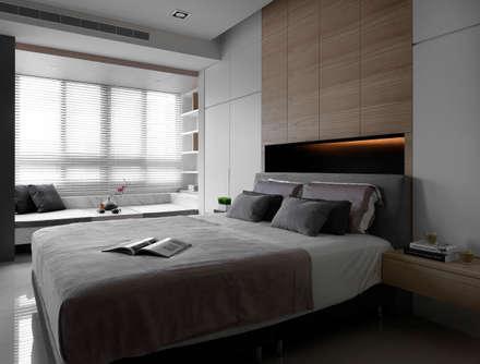 C House:  臥室 by 夏沐森山設計整合