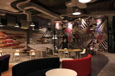 Open office area 1st floor:  Ruang Komersial by Kottagaris interior design consultant