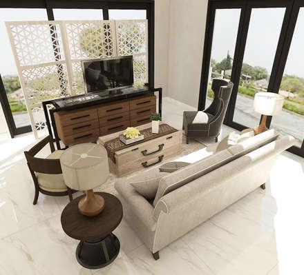 American modern residence:  Ruang Keluarga by Kottagaris interior design consultant