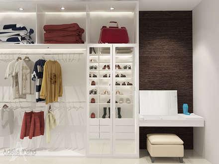 modern Dressing room by Adelia Irena