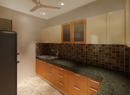 3 BEDROOM + STUDY: classic Kitchen by Srijan Homes