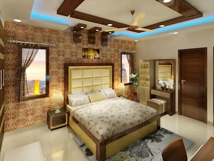 3 BEDROOM + STUDY: classic Bedroom by Srijan Homes