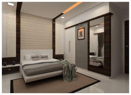 moderne Schlafzimmer von Shrishti Associates