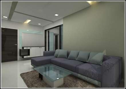 moderne Wohnzimmer von Shrishti Associates
