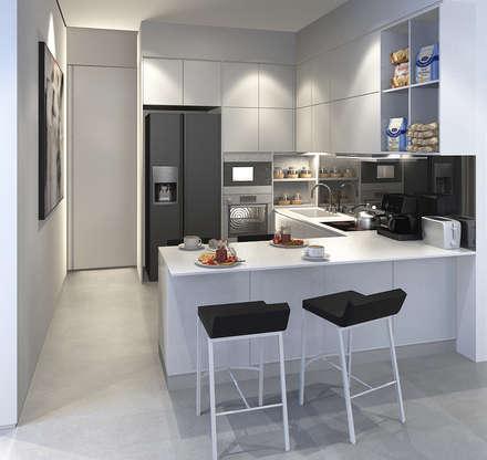 Bangka X House:  Dapur by INK DESIGN STUDIO