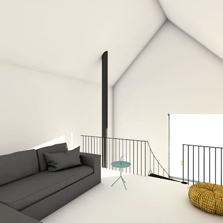 Relaxkamer: eclectische Woonkamer door De Nieuwe Context