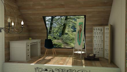 rustic Study/office by Blophome