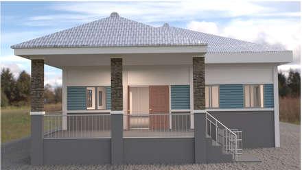 Rumah teras by mayartstyle