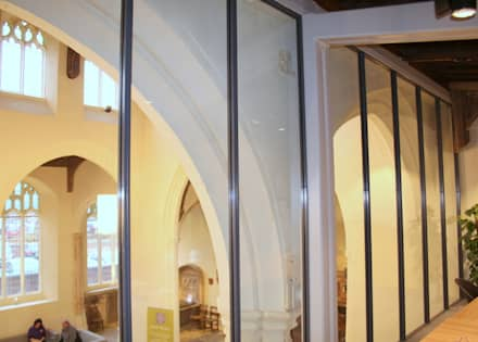 Glass meeting room in converted church :  Event venues by Ion Glass