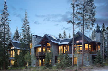 Contemporary Mountain Chalet: modern Houses by Andrea Schumacher Interiors