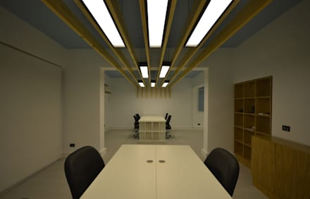 Work Space:  Offices & stores by CUBEArchitects
