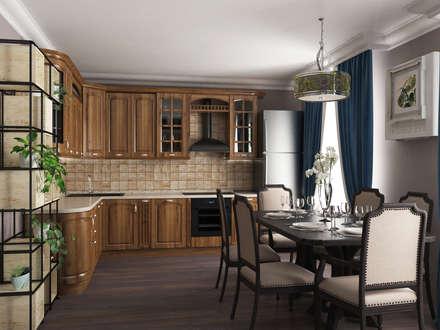 дом в современной классике: Кухонные блоки в . Автор – ARTMIX-DESIGN