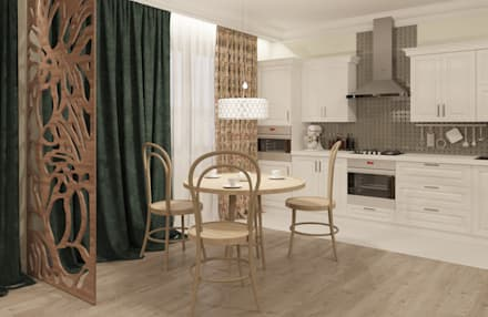 Загородный дом в стиле Арт-деко: Кухонные блоки в . Автор – ARTMIX-DESIGN