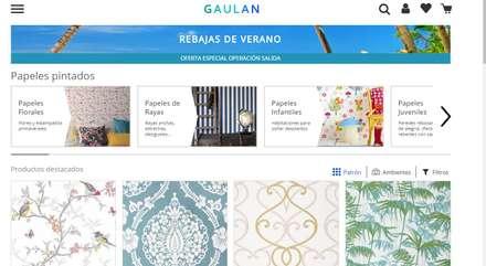 Papeles pintados Gaulan: Dormitorios de estilo industrial de Gaulan