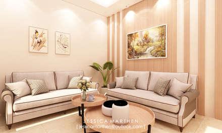 Mr S House (Emerald Town House PIK):  Ruang Keluarga by JESSICA DESIGN STUDIO