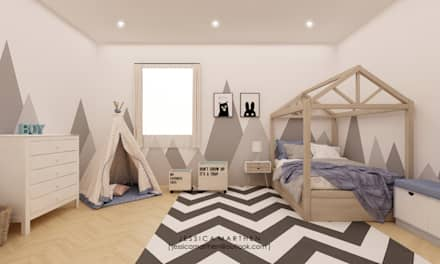 scandinavian Nursery/kid's room by JESSICA DESIGN STUDIO