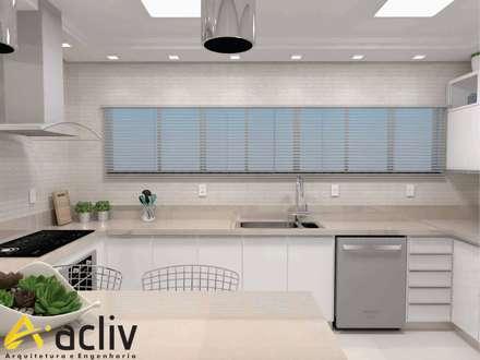 Cozinha: Cozinhas minimalistas por ACLIV ARQUITETURA E ENGENHARIA