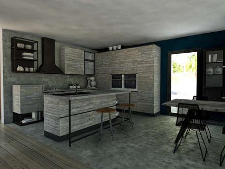 Cucina: Cucina in stile in stile Tropicale di StudioExNovo