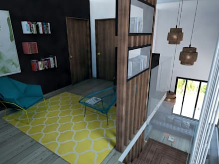Zona relax: Ingresso & Corridoio in stile  di StudioExNovo
