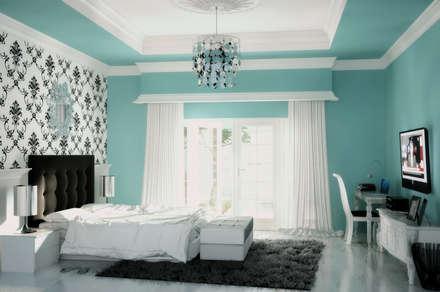 Dormitorios de estilo rural por Celcius Indonesia
