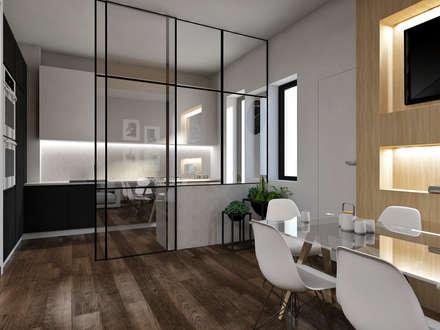 Cucina vetrata: Cucina in stile in stile Moderno di StudioExNovo