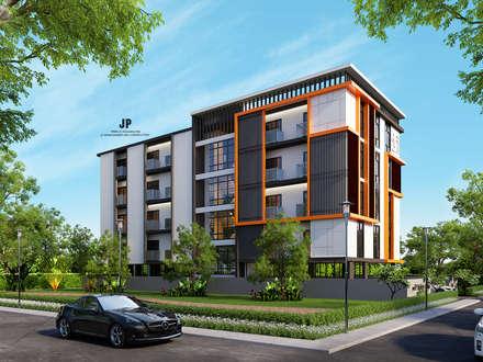 แบบเซอร์วิสอพาร์ทเม้นท์ 5ชั้น 48ห้อง:  โรงแรม by บริษัท เจพี ดีเวลลอปเม้นท์ แอนด์ คอนสตรัคชั่น จำกัด