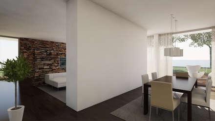 Moradia Unifamiliar: Salas de jantar modernas por comSequência - Arquitectura & Design
