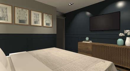 Apartamento Menta: Quartos  por Quintal Arquitetura