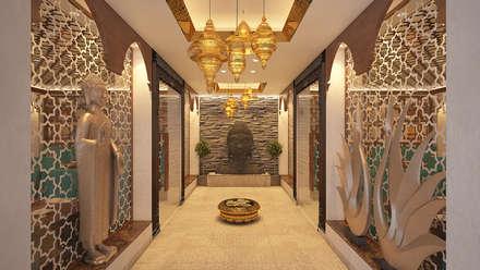 Corridor & hallway by Vivitsu Design