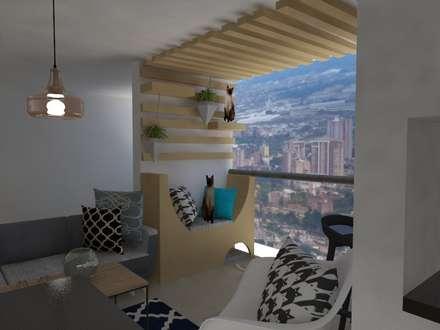 Zona de juegos para gatos : Terrazas de estilo  por Naromi  Design