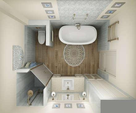 САНУЗЕЛ ПРОВАНС: Ванные комнаты в . Автор – Творческая мастерская Лузан Ирины