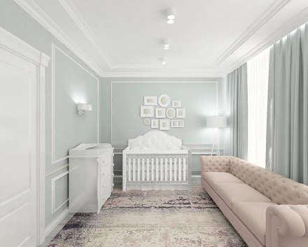 Современная Классика: комнаты для новорожденных в . Автор – Дизайнер Татьяна Волкова