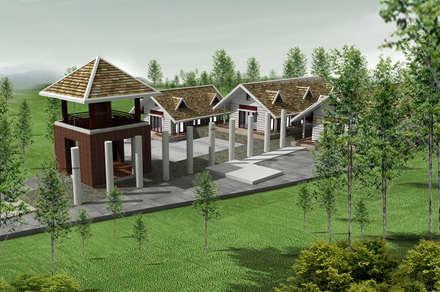 Viện tĩnh tâm - Thanh cao - Vĩnh phúc:  Chòi by Công ty cổ phần Kiến trúc và xây dựng AST