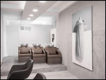Fueva / LED-Einbaupanel Ø 22,5 / 1600 lm warmweiss / Alu-matt:  Geschäftsräume & Stores von Licht-Design Skapetze GmbH & Co. KG