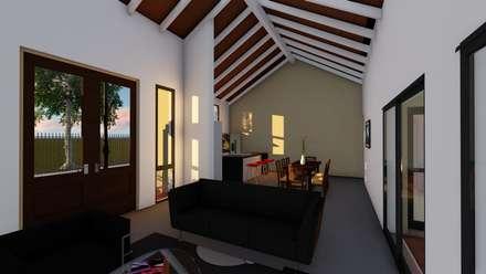 Casa en Susana - Susana - Santa Fe - Argentina: Livings de estilo rural por Arquitecto Leandro Puy